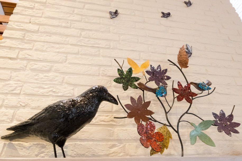 Vogel op schouw